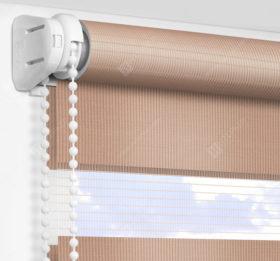Рулонные шторы День-Ночь - Латина коричневый 1305