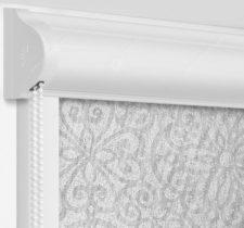 Рулонные кассетные шторы УНИ - Риано серый на пластиковые окна