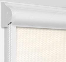 Рулонные кассетные шторы УНИ - Севилья песочный на пластиковые окна